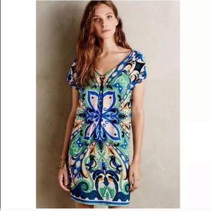 Anthropologie Maeve Folksong Shift V-Neck Dress